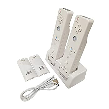 Prodico Wii Charging Station Charge Dock with Two Rechargeable Batteries for Wii Controller