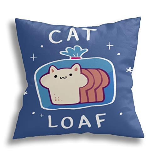 Wahom Cat Loaf, Throw Pillow Covers Decorative Couch Pillow Cases Cushion Covers for Sofa, Bed and Car 20 x 20 Inches