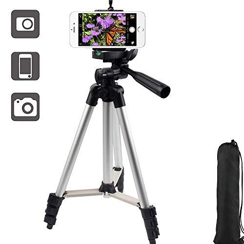 40'' Trépied de Téléphone Mini Caméra Trépied Support avec Support de Téléphone pour Appareil Photo Numérique DSLR Canon Nikon Sony Dv pour Smartphone Caméra Gopro Mount avec Sac de Transport