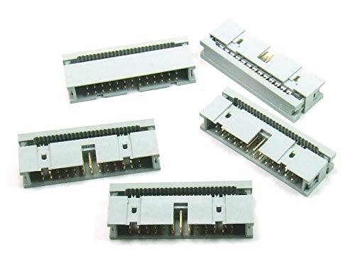 POPESQ 5pcs. x IDC 2.54mm Conector hembra Cable plano 26Vías/5pcs. x IDC 2.54mm Socket Ribbon Cable 26way # A2060