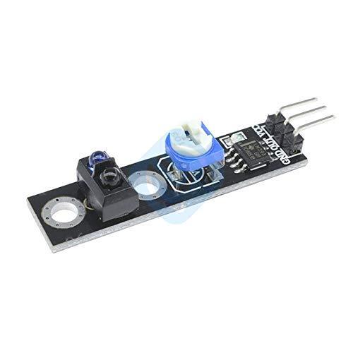 ZTSHBK 1 Uds TCRT5000 infrarrojo Reflectante Interruptor de Sensor de Infrarrojos Placa Barrera módulo de Seguimiento de línea 4Pin 3,3-5 V para Coche Inteligente Arduino