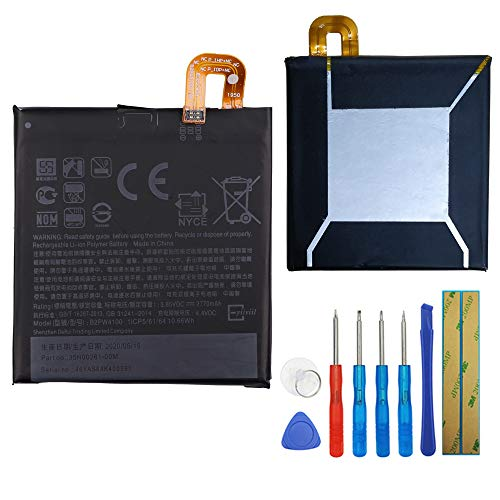 New Replacement Battery Compatible with Google Pixel 1st/Nexus S1 5.0-Inch 2770mAh 3.85V Built-in Battery B2PW4100 35H00262-00M + Tools