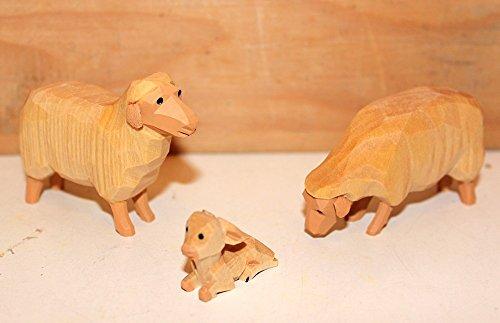 Krippenfiguren Schafgruppe hell Lotte Sievers-Hahn mit Baumwollbeutel