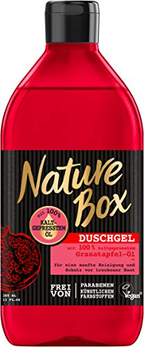 Nature Box douchegel granaatappel, verpakking van 6 (6 x 385 ml)
