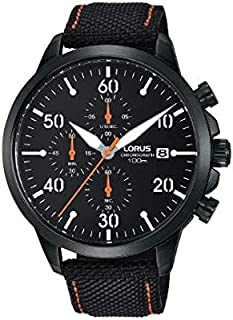 RM347EX9 - Lorus Sports, Quartz, 100m Water Resistant, Chronograph, Canvas Strap, Black