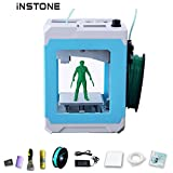 iNSTONE Easier 3D Printer Kit with iNSTONE Slice Software TF Card Sample PLA Filament Clean Kit Desktop 3D Printer DIY Mini 3D Printer Online Print Win/MAC