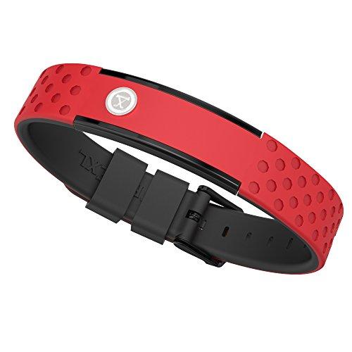 ProExl 9K Sports Golfers Magnetic Bracelet, Swim, Shower, Surf, Wear it Everyday (Red Black)
