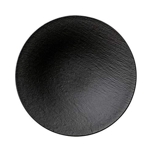 Villeroy und Boch Manufacture Rock Schale, 28,4 cm, Premium Porzellan, Schwarz