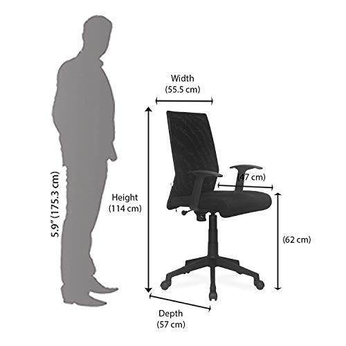 Nemi Agency Modern Ergonomic Chair (Metal ,Black,1 Piece)