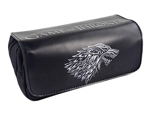 Casa Stark de Invernalia pluma empaqueta la cartera de Estudiantes de gran capacidad de la cremallera del monedero del bolso del lápiz de escritorio titular de la cartera muchacho de la muchac