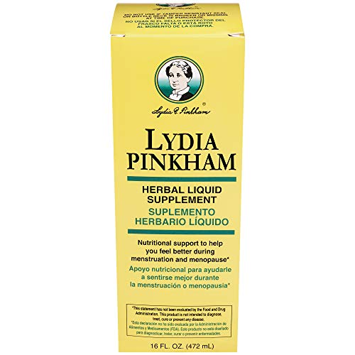 Lydia Pinkham Liquid Herbal Supplement for Menstruation and Menopause Support, 16 Ounce
