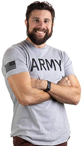 Army PT Style Shirt | U.S. Military Physical Traning Infantry Workout T-Shirt-(Adult,2XL) Heather Grey