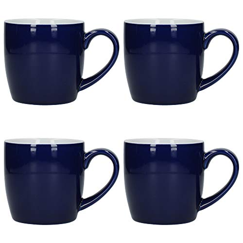London Pottery Juego de tazas de café y té (cerámica, 300 ml, 4 unidades), color azul cobalto