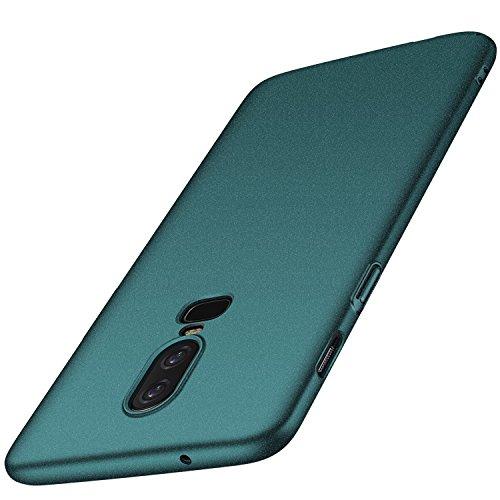 OnePlus 6 Hülle, Anccer [Serie Matte] Elastische Schockabsorption & Ultra Thin Design (Kies Grün)