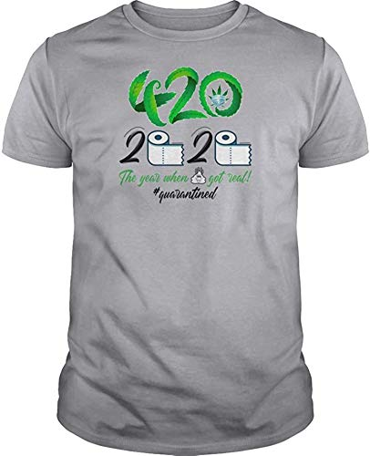 Rjsgdfjhs Men's 420 Day T-Shirts - Special 420 Day 2020 Quarantined Short Sleeve Crew Neck Funny Graphics Gifts Tees,Sport Grey,3X-Large