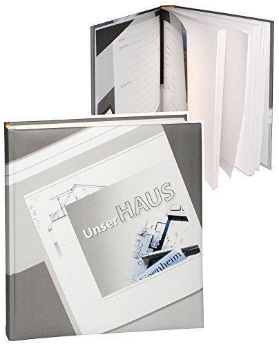 alles-meine.de GmbH XL Fotoalbum -  unser Haus  - Gebunden zum Einkleben - blanko - groß für bis zu 312 Bilder - Fotobuch / Photoalbum / Album - Hausbau & Umbau & Renovierung /..