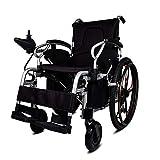 YIQIFEI Silla de Ruedas Automático Inteligente Eléctrico Plegable Ligero 4 Ruedas Potente Motor Dual para Ancianos Discapacitados, Negro (Silla)