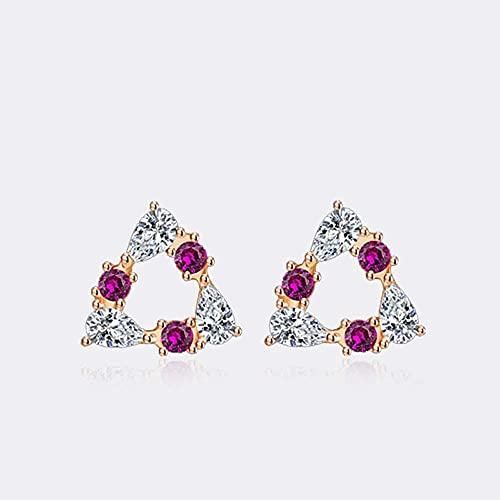 bjyxszd Pendientes Colgantes Zirconia cúbica Plata de Ley 925,S925 Sterling Silver Ear, Pendientes de la Semana, Pendientes de Zircon Simple Flores, Amor Girls Heart Jewelry Ear-6