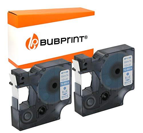 Bubprint Kompatibel Schriftbänder als Ersatz für Dymo 45014 S0720540 für Labelmanager 160 210D 280 350D 360D 420P 450D 500TS PnP Labelpoint 100 150 200 250 350 2er-Pack