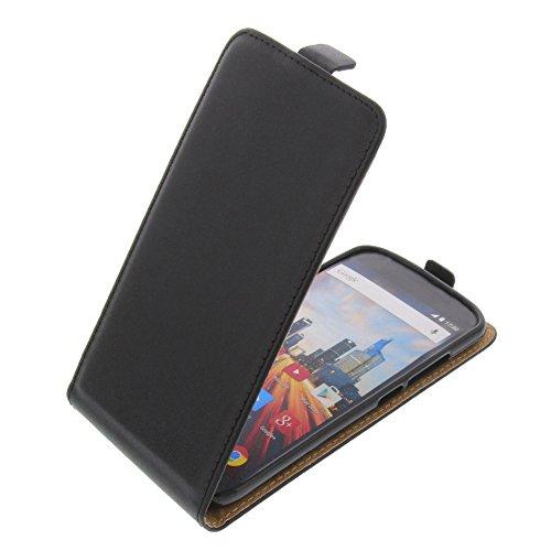 foto-kontor Tasche für Archos 50e Helium Smartphone Flipstyle Schutz Hülle schwarz