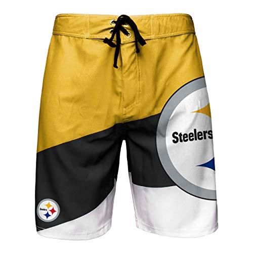 NFL Pittsburgh Steelers Mens Color Dive Swim Boardshorts, Team Color, M