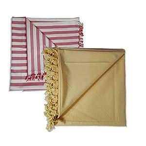 Riyashree Organic Cotton Silky Soft Bhagalpuri Dull chadar Quilts for All Season ( 53*96 in ) Combo Pack of 2 JACoDull…