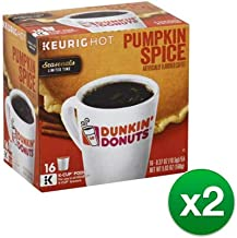 Dunkin Donuts Pumpkin Spice Flavor K-Cups for Keurig Coffee Brewers (32 Count)