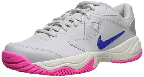 Nike Damen Nikecourt Lite 2 Tennisschuhe, Mehrfarbig (Pure Platinum/Racer Blue/MTLC Platinum 1), 38.5 EU