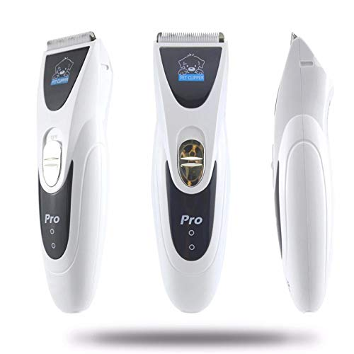 SSN CP6800 / MI - 90 Potente Pet Pet Pear Trimmer Silver Recargable Sharp Cortapelos para Perros Plaquines para Perros Máquina De Afeitar De Corte De Pelo