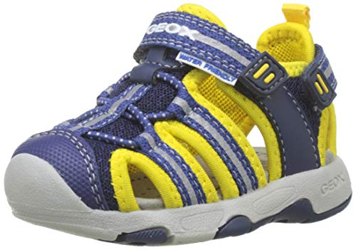 Geox B Sandal Multy Boy B, Bimbo, Blu (Navy/Yellow C0657), 24 EU