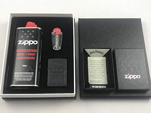 Zippo Jack Daniel's Black in Black Feuerzeug Premium Set - Sturmfeuerzeug Geschenk Idee - 60001369