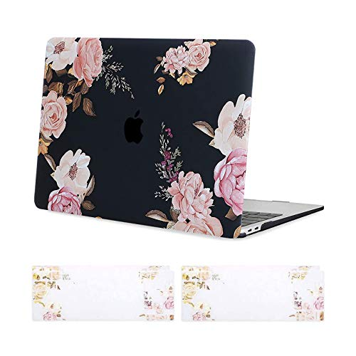 MOSISO MacBook Pro 13 inch Case 2020 2019 2018 2017 2016 Release A2338 M1/A2289/A2251/A2159/A1989/A1706/A1708,Plastic Hard Case,Keyboard Skin Compatible with MacBook Pro 13 inch, Pink Peony