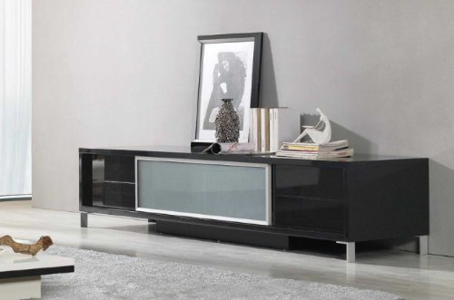 Hot Sale Vig Furniture Brighton Black Entertainment Center