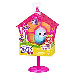styles vary, one supllied at random. Beautiful eyelashes, cute sparkle-effect & soft flocked wings. Removable stand & clip together hanging display. With voice record and play back feature. The more you pet them… the more they chirp and sing! Birdhou...