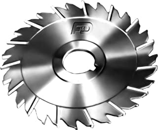 F&D Tool Company 15021-B657 Slitting Saw with Staggered Teeth, High Speed Steel, 5