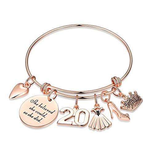 20th Birthday Gifts for Girls, Sweet 20 Gifts for Teen Girl Turning 20 Fabulous Birthday Gifts Bday Present Bracelet 20 Year Old Girl Gifts for Birthday Women Friends Female Inspirational Graduation