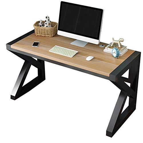 Escritorio De Computadora Oficina En Casa Personal De La Empresa Color Nogal Claro En Forma De K Marco De Acero Fuerte 122.5x60x75cm(Color:Negro)