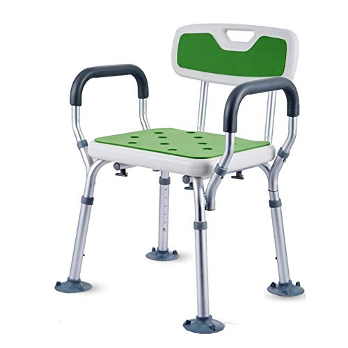 JKUNYU Ältere Sitz in Badewanne Dusche Bank Badewanne Stuhl mit den Armen und Rücken, Höhenverstellbar, werkzeuglose Montage, Griffige Sitzbadehocker, Badezimmer Badezimmerrollstühle