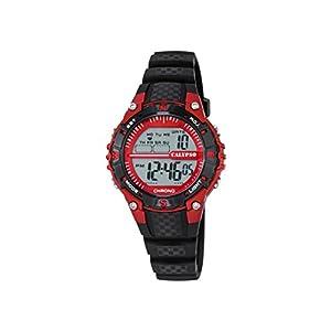 Calypso–Reloj Digital Unisex con LCD Pantalla Digital Dial y Correa