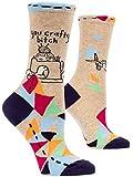 Blue Q Socks, Women's Crew, You Crafty B---h, Women's Shoe Size 5-10