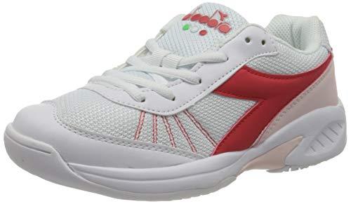 Diadora Kinder Unisex Challenge 3 JR Tennisschuh Sportschuh Sneaker Weiß/Rot, Schuhgröße:29 EU