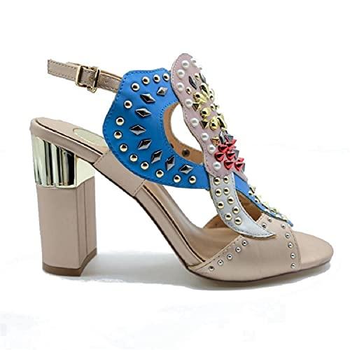 EXE' NIKITA-240 Sandalo Donna Nude/Acqua 38