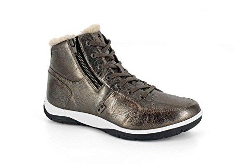 """Strive /""""MAINE/"""" en Cuir Noir à Lacets Léger Chaussures Trainer Orthotic Design"""