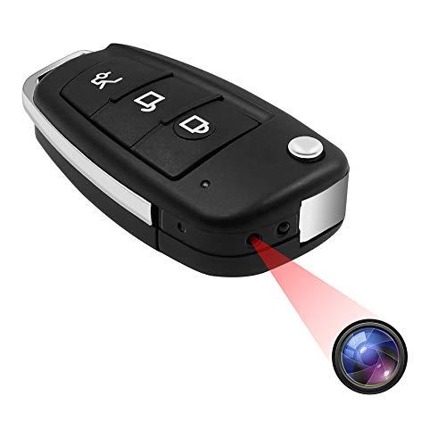 小型カメラ隠しカメラ キーレス型カメラ 超小型カメラ 隠しカメラ 1080P画質 スパイカメラ 暗視機能 動体検知 上書き録画 防犯用 証拠撮影 屋外 屋内用 携帯便利 日本語取扱書付き(S83002)