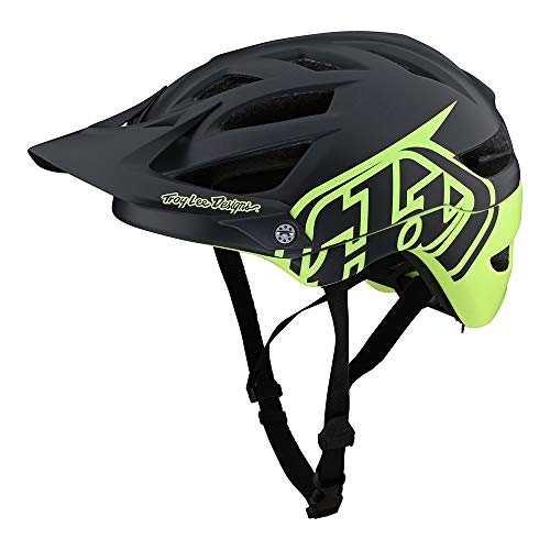 Troy Lee Designs Adult | All Mountain | Mountain Bike Half Shell A1 Helmet Classic W/MIPS (Gray/Green, SM)