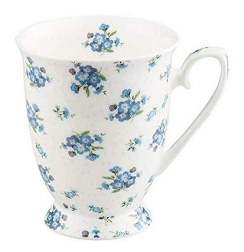 Ambiente Becher - Mug - Tasse - Tee/Kaffee Forget Me Not - Bluemchen Blau- ca. 0.25L