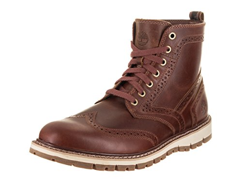 Timberland Men's Britton Hill Brogue Boot (9.5 D(M) US, Medium Brown Full Grain)