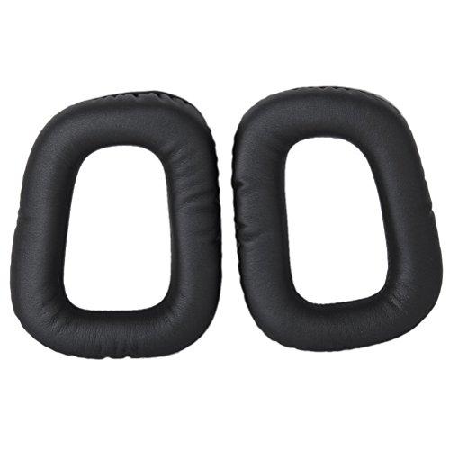 Foxnovo Ersatz weichem Schaumstoff Ohrpolster Covers Ohr Ohr Polster für Logitech G35 G930 G430 F450 Kopfhörer (Schwarz)