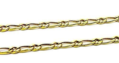 Collana Oro Giallo 18kt (750) Catena Maglia 1+1 Cm 45 Donna Ragazza Bambini