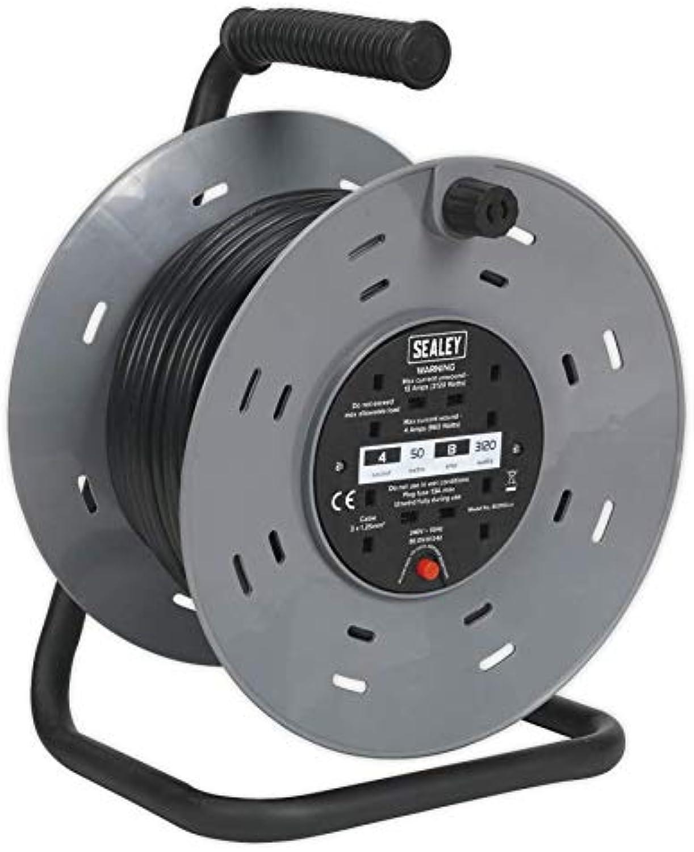 Sealey Kabelrolle, 2 x 230 V 50 m B000R9ZMNY | Billiger als der Preis